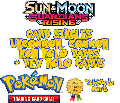 Guardians Rising Pokemon Cards Selection: Common, Uncommon, Rares & Rev Holos