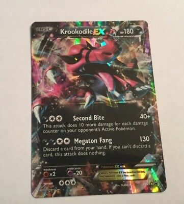 Pokemon Card XY25 Krookodile EX Oversized