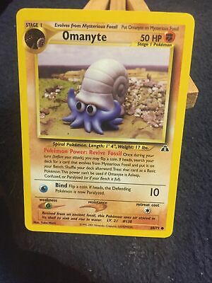Omanyte 60/75 Neo Discovery Pokemon Card NM