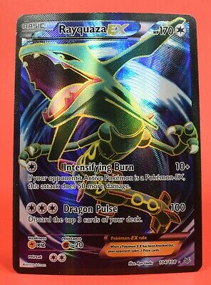 Pokemon TCG English Card Roaring Skies Rayquaza EX 103/108 Holo Full Art Holo