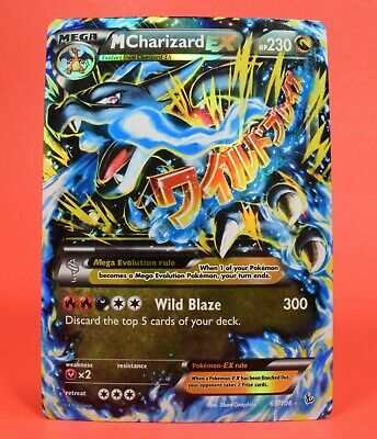 Pokemon TCG English Card Flashfire Holo Rare M Charizard EX EX 69/106