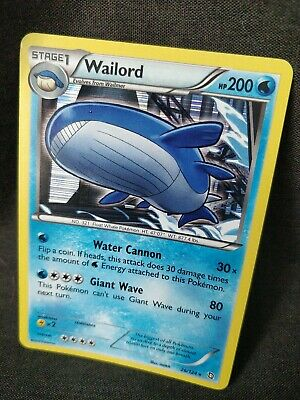 Wailord 26/124 Rare Holo Black and White Dragons Exalted Pokemon Card