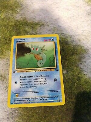 Pokemon TCG Fossil 1st Edition Horsea Common