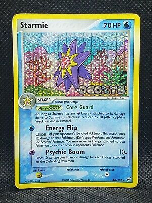 Pokemon Starmie Ex Deoxys Reverse Stamped Holo 48/107 Played Condition