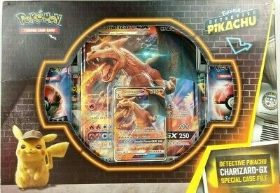 Pokemon Trading Cards Detective Pikachu Charizard GX Special Case File Sealed