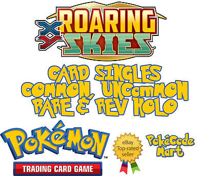 Pokemon XY Roaring Skies Cards Selection: Common, Uncommon, Rare & Rev Holo /108