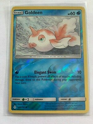 Goldeen Pokemon Unbroken Bonds 48/214 Reverse Holo NM/M, Pack Fresh
