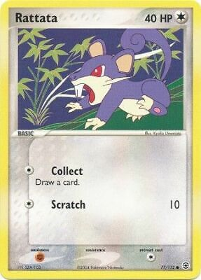 Rattata 77/112 FireRed & LeafGreen Common Light Play LP Pokemon DNA GAMES