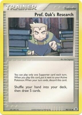 Prof. Oak's Research 98/112 FireRed & LeafGreen Uncommon -LP- Pokemon DNA GAMES