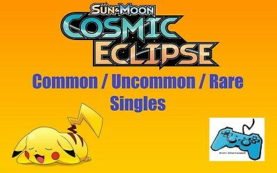 Pokemon Sun & Moon Cosmic Eclipse Card Singles - Common / Uncommon / Rare TCG
