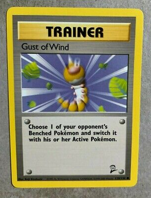 Gust of Wind 120/130 Base Set 2 - Common Pokemon Card - NM/Mint