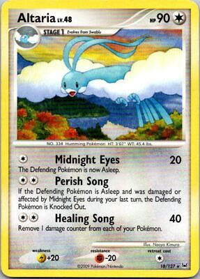 Altaria 18/127 Non-Holo Platinum Pokemon Card ~ Played