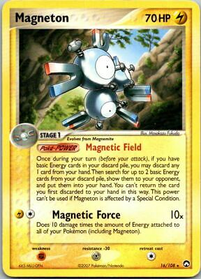 Magneton 16/108 Non-Holo Ex Power Keepers Pokemon Card ~ Played