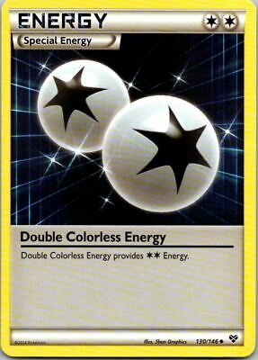 Double Colorless Energy 130/146 Non-Holo XY Base Pokemon Card ~ Played