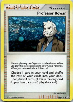 Professor Rowan 112/130 Holo Diamond & Pearl Pokemon Card ~ Played