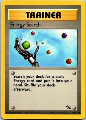 Energy Search 59/62 Fossil Pokemon Card ~ LP