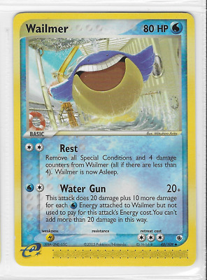 Pokemon Wailmer 48/109 Ruby and Sapphire Uncommon Near Mint Condition