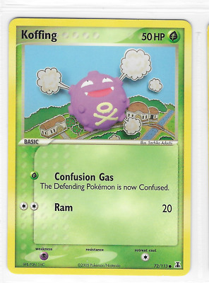 Pokemon Koffing 72/113 Delta Species Common Mint Condition