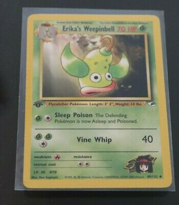Erika's Weepinbell 49/132 1st Edition Gym Heroes Pokemon Card NM