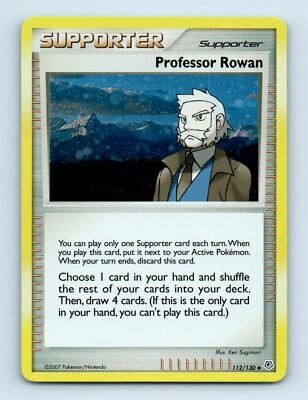 Professor Rowan 112/130 Holo Diamond & Pearl Pokemon Card ~ Near Mint