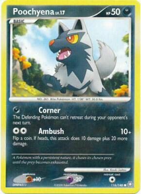Poochyena 116/146 Legends Awakened Common Light Play Pokemon DNA GAMES