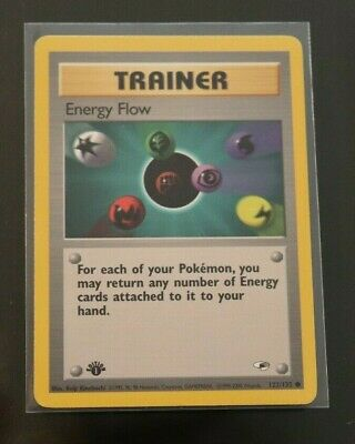Energy Flow 122/132 1st Edition Gym Heroes Trainer Pokemon Card NM