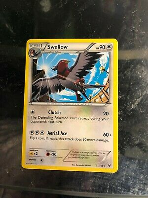 Swellow Pokemon Roaring Skies 71/108 (Rare) - With Protective Sleeve