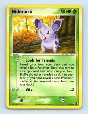 Nidoran 70/112 Non-Holo FireRed LeafGreen Pokemon Card ~ Played