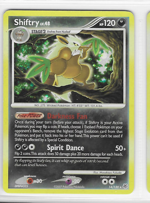 Pokemon Shiftry 14/130 Diamond and Pearl Rare Holo Near Mint Condition