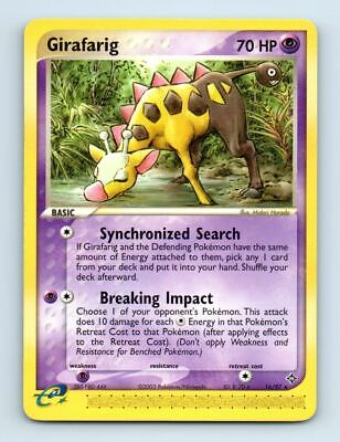 Girafarig 16/97 Non-Holo Ex Dragon Pokemon Card ~ LP