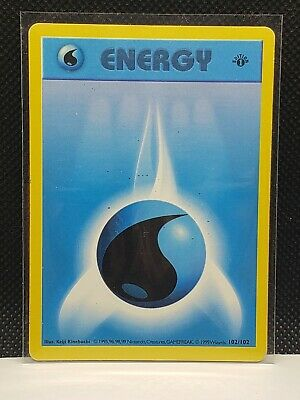 Pokemon Water Energy Base Set Shadowless 102/102 1st Edition HP Condition