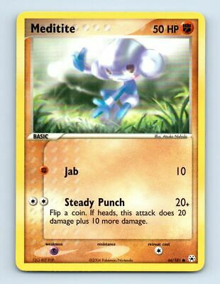 Meditite 66/101 Non-Holo Hidden Legends Pokemon Card ~ Near Mint