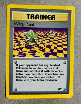 Warp Point 126/132 Gym Challenge - Common Pokemon Card - NM