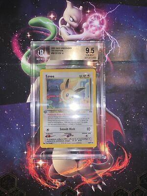 Pokemon BGS 9.5 2001 Neo Discovery 1st Edition Eevee Card 38/75 LOW POP