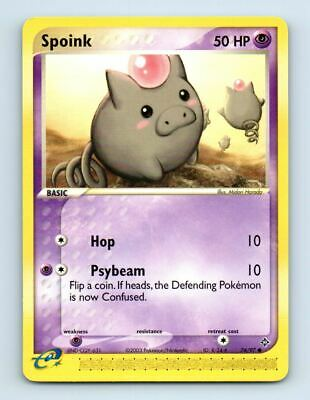 Spoink 74/97 Non-Holo Ex Dragon Pokemon Card ~ LP