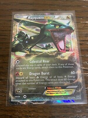 Pokemon Card Dragons Exalted Rayquaza EX 85/124 Holo Ultra Rare NM