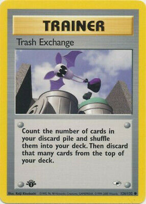 Pokemon Card - Gym Heroes 126/132 - TRASH EXCHANGE (common) **1st Edition** - NM
