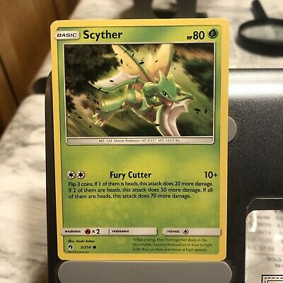 Scyther  3/214 S&M: Lost Thunder  Common  Mint/NM  Pokemon
