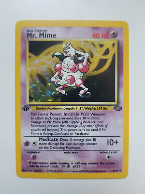 Mr Mime - Jungle 6/64 - 1st Edition - Holo Rare Pokemon NM