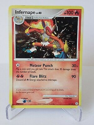 GREAT CONDITION LP Pokemon Infernape 5/130 Diamond & Pearl Rare Holo