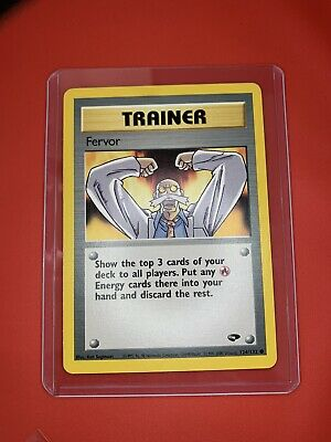 FERVOR - Gym Challenge - 124/132 - Trainer - Pokemon Card - Unplayed Mint