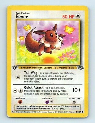 Eevee 51/64 1st Edition Jungle Pokemon Card