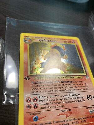 First Edition Neo Genesis Typhlosion 17/111 Holo Rare NEAR MINT Pokemon TCG 🔥