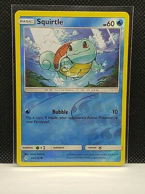 Pokemon Squirtle Unbroken Bonds Reverse Holo 33/214 Excellent Condition