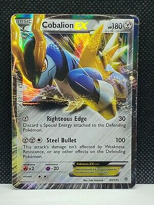 Pokemon Cobalion EX Plasma Storm Holo 93/135 Damaged Condition