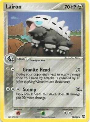 Lairon 32/108 Power Keepers Uncommon Played Pokemon DNA GAMES
