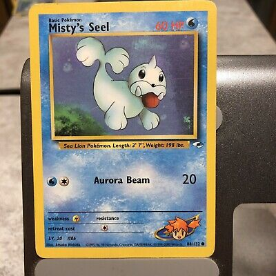 Gym Heroes Set Misty's Seel 88/132 Pokemon Card Near Mint