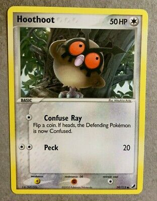 Hoothoot 59/115 EX Unseen Forces - Common Pokemon Card - NM/Mint