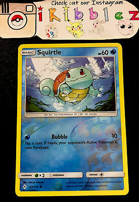 Squirtle 33/214 NM Unbroken Bonds Reverse Holo Pokemon Card. Free Tracked Ship!