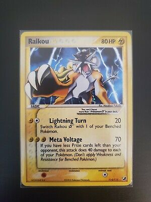 Raikou Gold Star 114/115 EX Unseen Forces Pokemon Card NM/M Condition